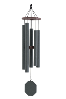 Weathered Bronze Series - Solar Singer Wind Chime - 38""