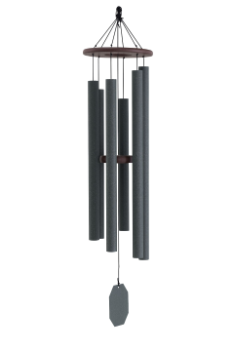 Weathered Bronze Series - Serenity Wind Chime - 48""