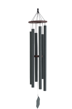 Weathered Bronze/Sonic Sound Waves Wind Chime - 56""