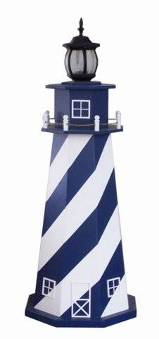 Garden Lighthouse w/ Std. Electric Light - Stripes