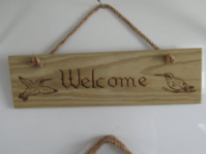 Wooden Welcome Signs