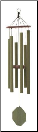 Malachite Series - Songbird Wind Chime - 32""
