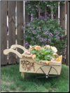 Wooden Peddlers Cart / Planter
