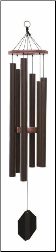 Biblical Bells / Textured Copper - King Davids Harp Wind Chime - 37""