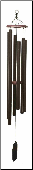 Biblical Bell Series/ Textured Copper - Harmonica  Wind Chime- 48""