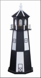 Garden Lighthouse -Checkered w/ std Elect.Light