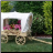 covered wagon planter - large