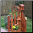 Corner Picket fence planter w/ birdhouse - Small
