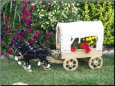 Covered Wagon Planter w/ Tongue & Doubletree