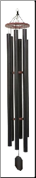 Truillusion Black Series / - Music of the Universe Wind Chime- 84""