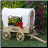covered wagon planter - small