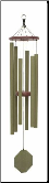 Malachite Series - Tranquill Rain Wind Chime - 37""