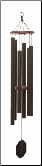 Biblical Bells / Textured Copper - Victory Bells of Jericho Wind chime - 43""