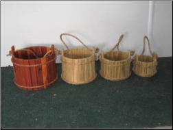 Wooden Bucket Planter/Wishing Well