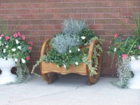 Two Tiered Wheel Planter