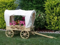 Wooden Wagon Planter